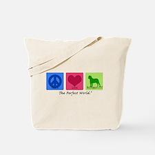 Peace Love Bullmastiff Tote Bag