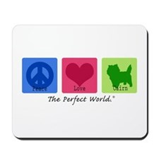 Peace Love Cairn Mousepad