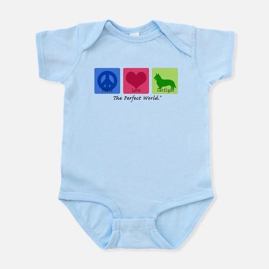 Peace Love Cardigan Infant Bodysuit