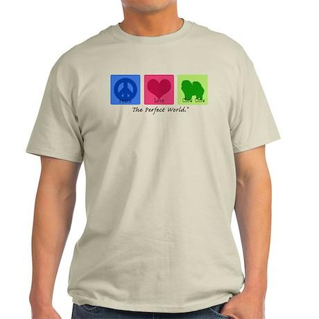 Peace Love Chow Chow Light T-Shirt