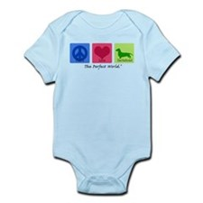 Peace Love Dachshund Infant Bodysuit