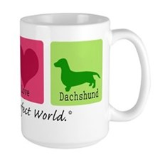 Peace Love Dachshund Mug