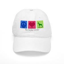 Peace Love Doberman Baseball Cap