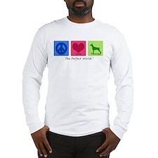 Peace Love Doberman Long Sleeve T-Shirt