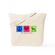 Peace Love Doberman Tote Bag