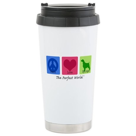 Peace Love Springer Stainless Steel Travel Mug