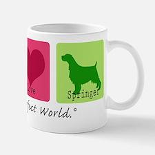 Peace Love Springer Small Small Mug