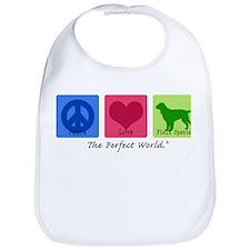 Peace Love Field Spaniel Bib