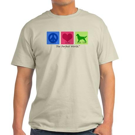 Peace Love Flat Coat Light T-Shirt