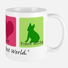 Peace Love French Bulldog Mug