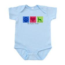 Peace Love German Pinscher Infant Bodysuit