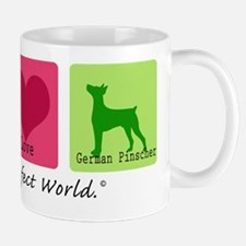 Peace Love German Pinscher Mug