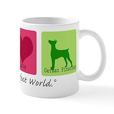 Peace Love German Pinscher Mug