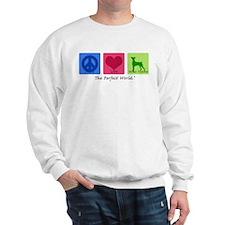 Peace Love German Pinscher Sweatshirt