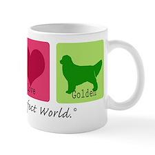 Peace Love Golden Mug