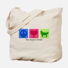 Peace Love Golden Tote Bag