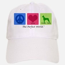 Peace Love Great Dane Baseball Baseball Cap