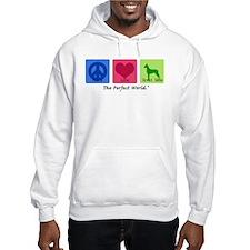 Peace Love Great Dane Hoodie Sweatshirt