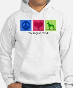 Peace Love Great Dane Hoodie Sweatshirt