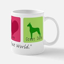 Peace Love Great Dane Mug