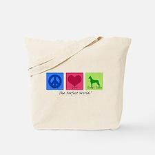 Peace Love Great Dane Tote Bag