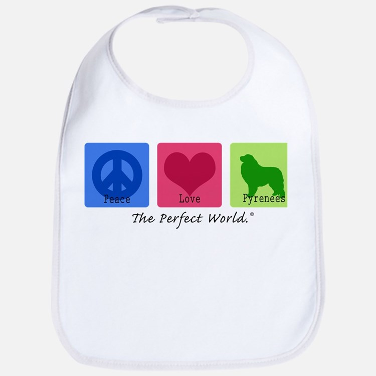 Peace Love Pyrenees Bib