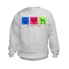 Peace Love Greyhound Sweatshirt