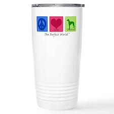 Peace Love Greyhound Travel Mug