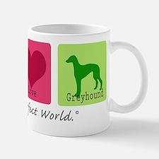 Peace Love Greyhound Mug