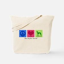 Peace Love Greyhound Tote Bag