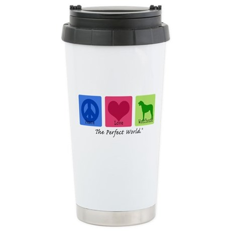 Peace Love Wolfhound Stainless Steel Travel Mug