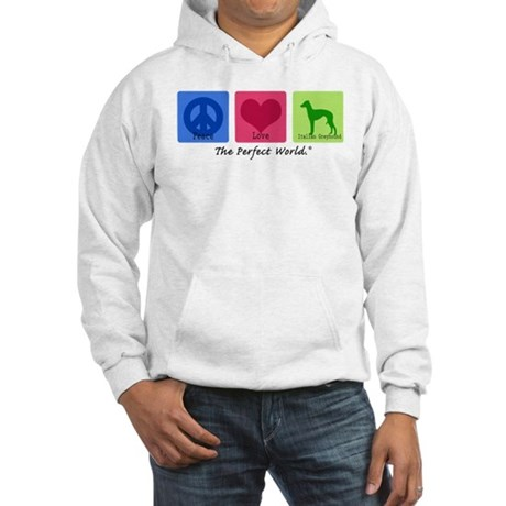 Peace Love Italian Greyhound Hooded Sweatshirt