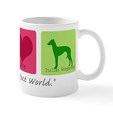 Peace Love Italian Greyhound Mug