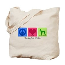 Peace Love Italian Greyhound Tote Bag