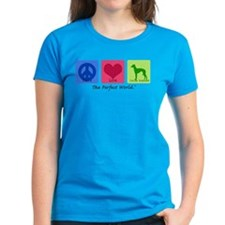 Peace Love Italian Greyhound Tee