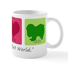 Peace Love Chin Mug