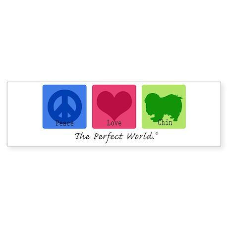 Peace Love Chin Bumper Sticker