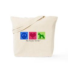 Peace Love Kerry Blue Tote Bag