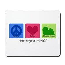 Peace Love Lhasa Apso Mousepad