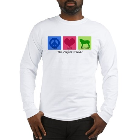Peace Love Mastiff Long Sleeve T-Shirt