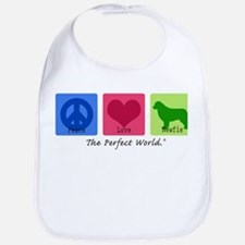 Peace Love Newfie Bib