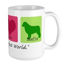 Peace Love Newfie Mug