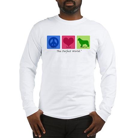 Peace Love Newfie Long Sleeve T-Shirt