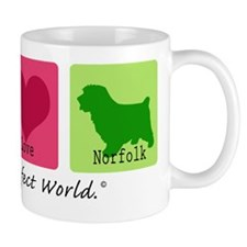 Peace Love Norfolk Mug