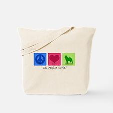 Peace Love Elkhound Tote Bag
