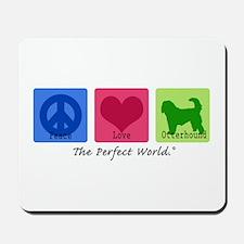 Peace Love Otterhound Mousepad