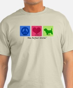 Peace Love PBGV T-Shirt