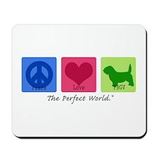 Peace Love PBGV Mousepad