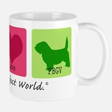Peace Love PBGV Mug