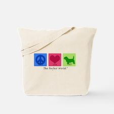 Peace Love PBGV Tote Bag